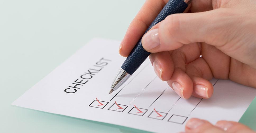 Checklist da limpeza pós obra